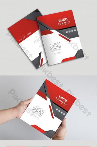 sampul brosur perusahaan yang kreatif Templat CDR