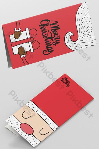 Carte de voeux de père Noël rouge Modèle AI