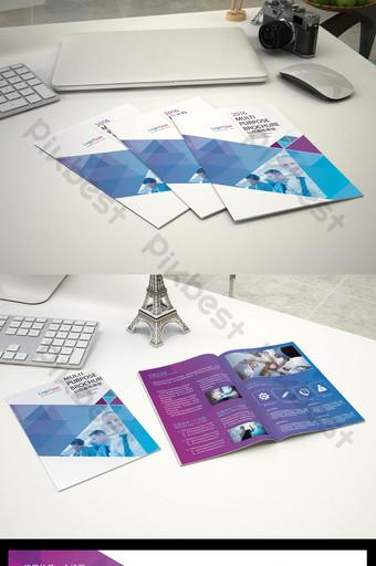 Fichier source PSD de conception de dépliant d'entreprise Modèle PSD