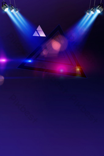 藍光舞台效果背景 背景 模板 PSD