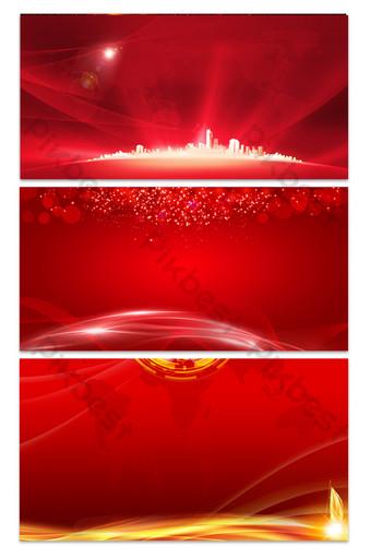 fondo rojo del tablero de la exposición corporativa del negocio Fondos Modelo PSD