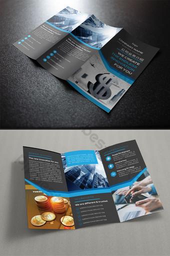 金融銀行促銷三摺頁設計psd 模板 AI