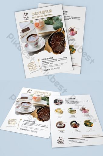 caféeeeee tienda bebida restaurante apertura volante diseño archivo fuente psd Modelo PSD