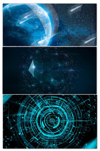 藍色科技感企業文化年會海報背景 背景 模板 PSD