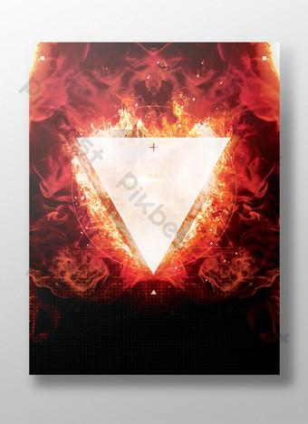 fondo de textura de triángulo de llama roja Fondos Modelo PSD