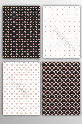 vector plano lleno de arte abstracto patrón de amor fondo geométrico rayado Fondos Modelo AI