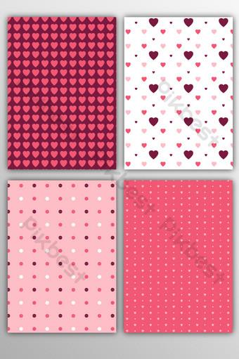vector plano lleno patrón de arte abstracto amor fondo geométrico rayado Fondos Modelo AI