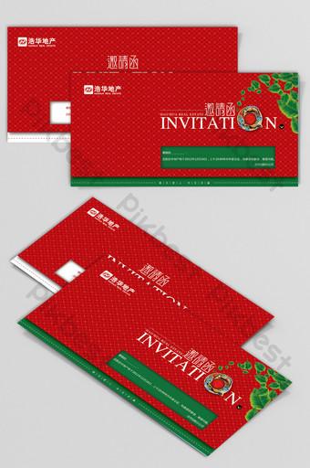 Conception de cartes de voeux d'invitation fraîche et festive de Noël Modèle AI