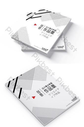 簡單的黑白個人作品集敏銳的個性畢業設計模板 模板 PSD
