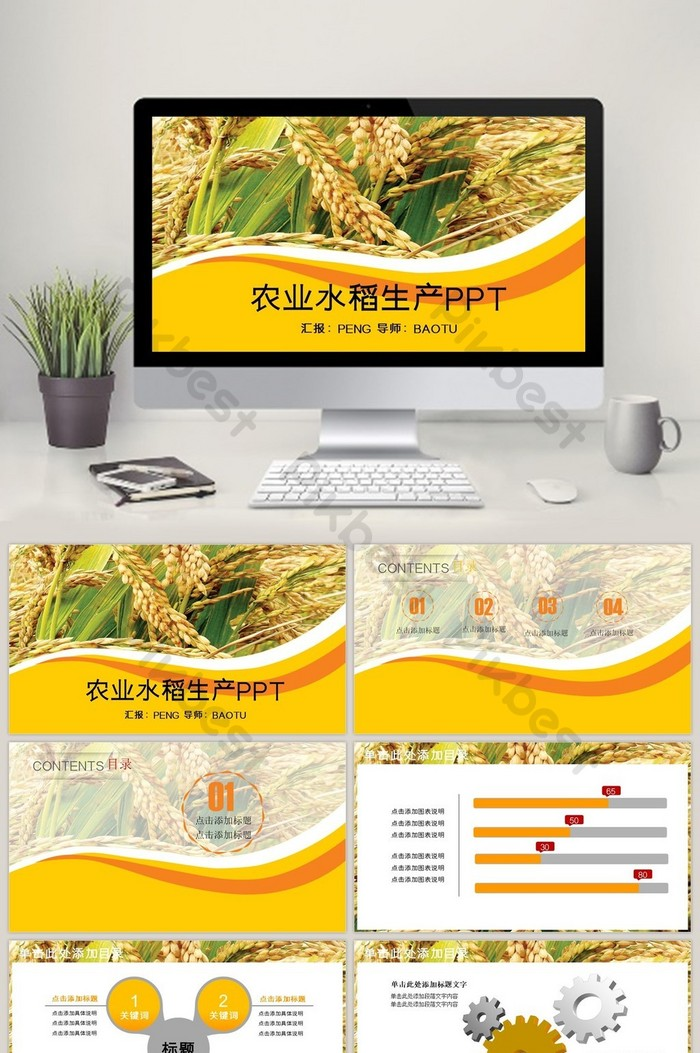 Agricultural Production Rice Sowing Dynamic Ppt Powerpoint