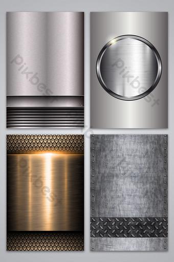 Metalowe tekstura tło wektor Tła Szablon AI