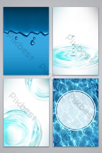 vector de fondo de onda de agua dulce Fondos Modelo AI