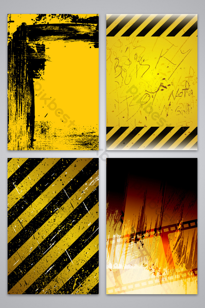 Black And Yellow Poster Background