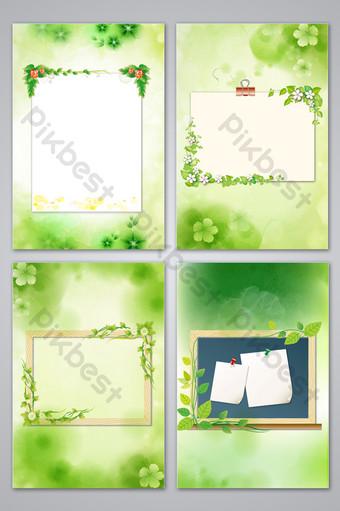 春天文字框背景 背景 模板 PSD
