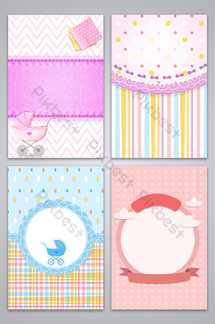 cute baby border style background