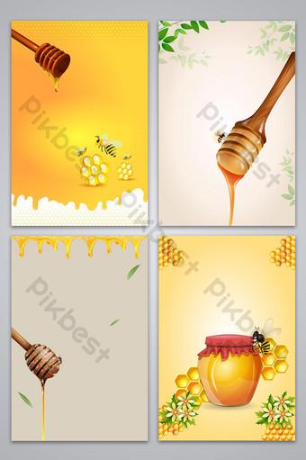 ناقلات خلفية الذواقة العسل الغذاء التغذية خلفيات قالب AI