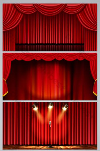 紅色舞台背景設計 背景 模板 AI