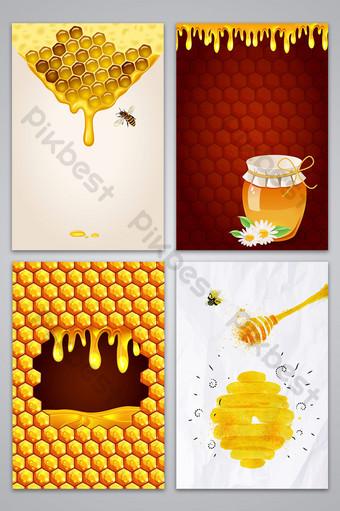 مرسومة باليد ناقلات نسيج العسل الذواقة تغذية الخلفية خلفيات قالب AI