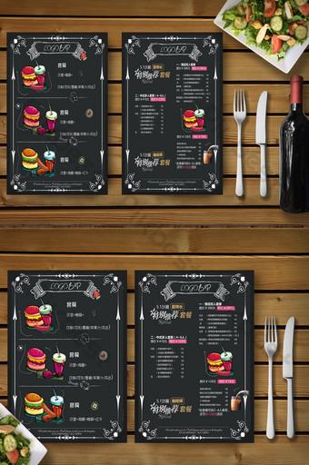 肯德基漢堡美食套餐菜單食譜 模板 PSD