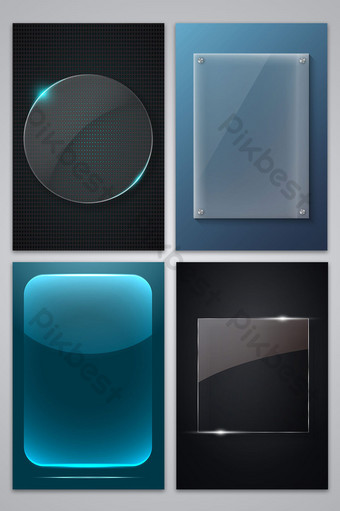 矢量玻璃紋理透明邊框背景 背景 模板 AI