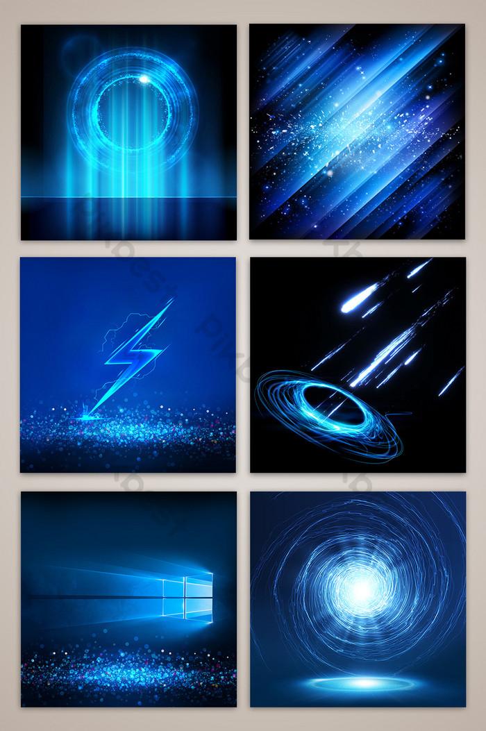 藍光炫酷黑光效果技術風格美女主圖背景