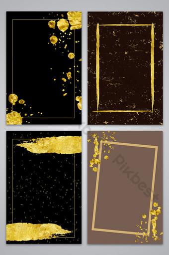 矢量紋理的金色墨水點塗鴉背景 背景 模板 AI
