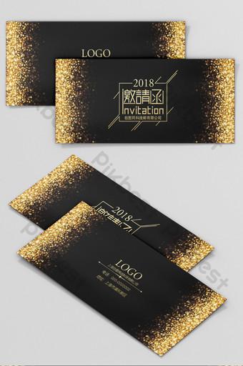 الذهب الأسود موجزة خطاب دعوة الأعمال قالب PSD