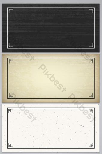 矢量復古紙紋理圖案古典邊框背景 背景 模板 AI