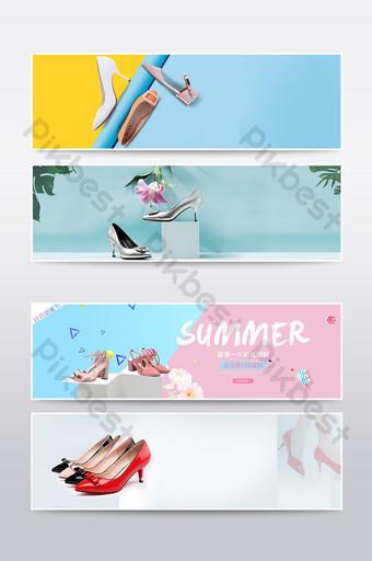 Ecommerce estate scarpe da donna promozione poster design E-commerce Sagoma PSD