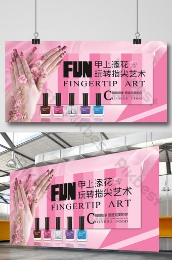 poster quảng cáo nail chuyên nghiệp Bản mẫu PSD