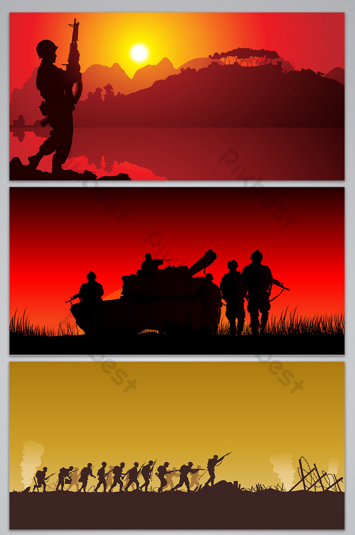 vector war silhouette background