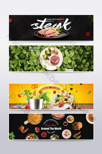 banner de cartel de bistec de pizza gourmet de comercio electrónico Comercio electronico Modelo PSD