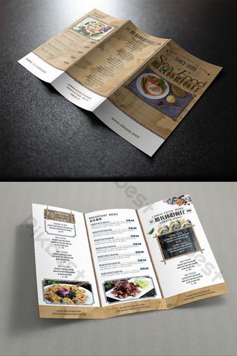 menú de promoción de restaurante nostálgico de estilo retro trí Modelo PSD