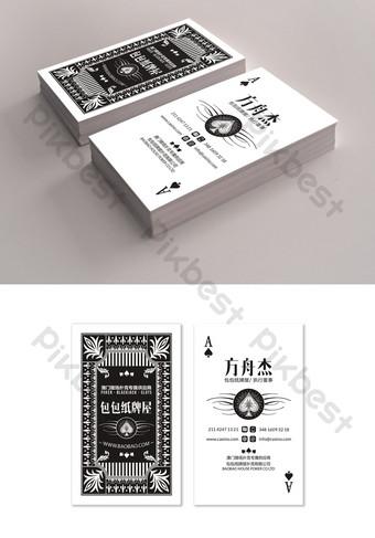 Jeu de cartes de visite de conception créative de poker Modèle PSD