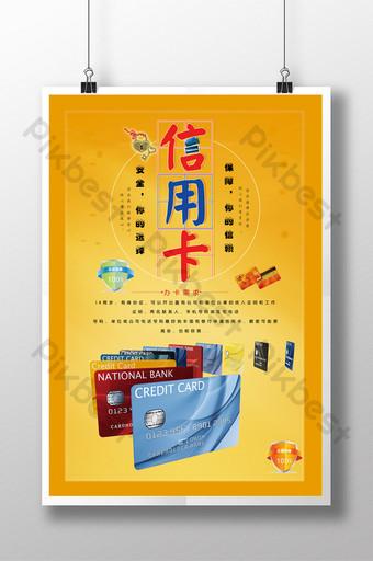 Affiche de carte de crédit de banque rurale Modèle PSD