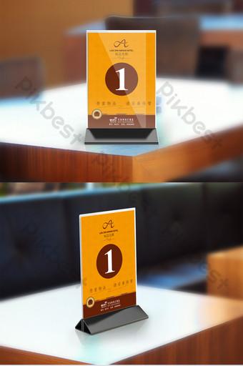 Orange stylish and style table card design Template AI