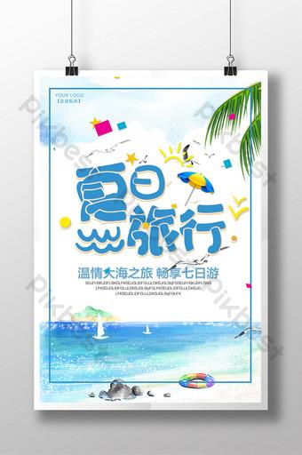 Summer trip, sea enjoy 7-day trip Template PSD