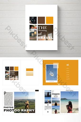 fashion majalah perjalanan dan brosur gambar sederhana Templat CDR