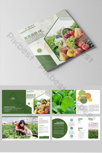 desain templat brosur sayuran buah yang sederhana dan bergaya Templat CDR