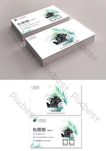 Conception de carte de visite de photographe frais dessiné à la main Modèle PSD