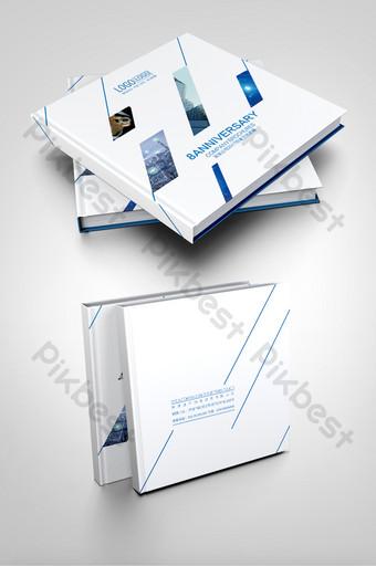 تصميم غلاف كتيب صورة الشركة الزرقاء قالب AI