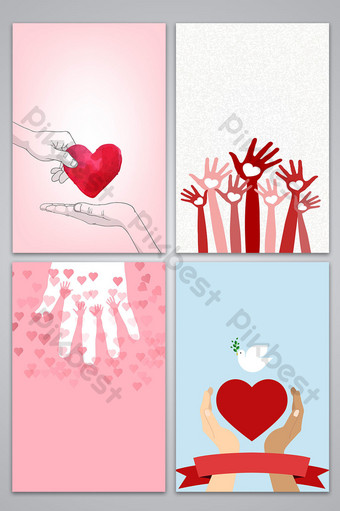 vector dibujado a mano caridad bienestar público amor promoción fondo publicitario Fondos Modelo AI
