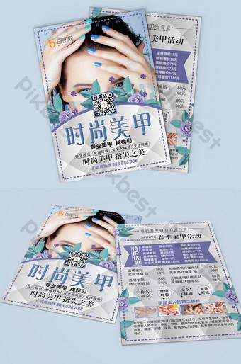 Beauty Nail Leaflet Thiết kế DM Bản mẫu CDR