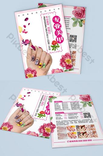 nail md thiết kế tờ rơi Bản mẫu CDR