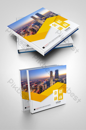 desain sampul brosur investasi keuangan Templat CDR