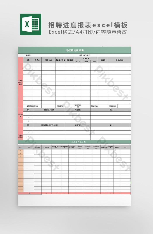 Recruitment progress report excel template | Excel XLS ...