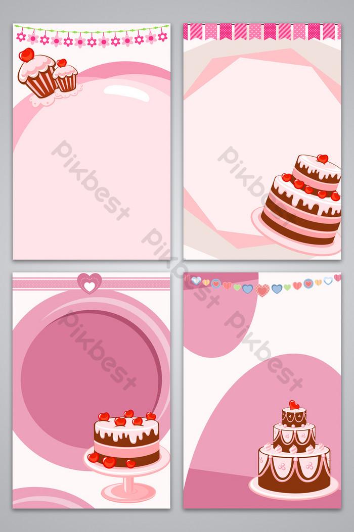 لطيف الكرتون كعكة حلوة تصميم صورة خلفية رومانسية خلفيات Psd تحميل مجاني Pikbest