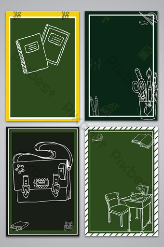 Carte de fond du jour des enseignants dessinés à la craie dessinés à la main Fond Modèle AI