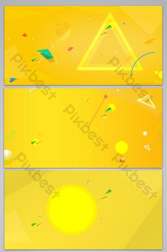 Image de fond de triangle circulaire géométrique de couleur vive jaune Fond Modèle PSD