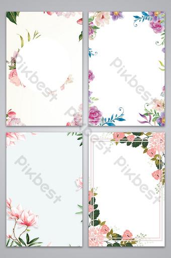 花卉裝飾邊框矢量設計紋理背景花圖 背景 模板 PSD